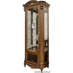Шкаф с витриной «Альба 8» П 485.08-01  палисандр с золочением