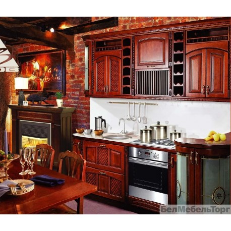 Кухня из массива Ольхи Т 307\113