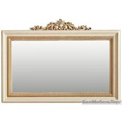 Зеркало настенное «Альба 18к» П 485.18к  слоновая кость с золочением