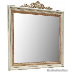 Зеркало настенное «Альба 13к» П 524.13к  слоновая кость с золочением