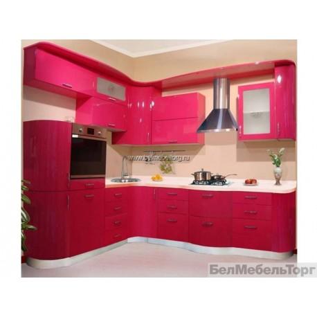 Кухня с фасадом крашеный МДФ RAL 4010
