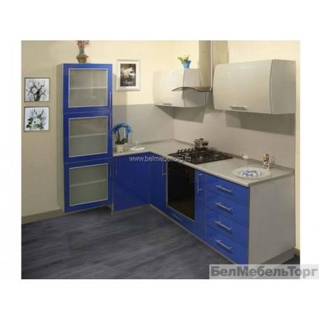 Кухня Пост 3 Синий/Серебро перламутр