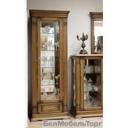 Шкаф с витриной Верди А1з дуб П1079.11з