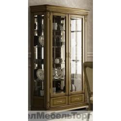 Шкаф с витриной Верди А2з дуб П1079.11з