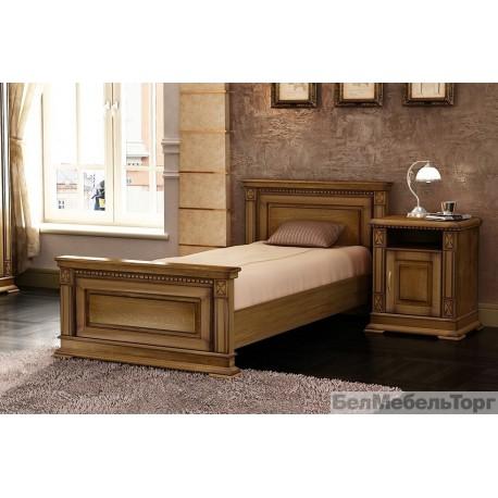Кровать Верди одинарная П 095.04 дуб (800)