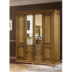 Шкаф «Верди Люкс» 4-х дверный   П 434.01 дуб