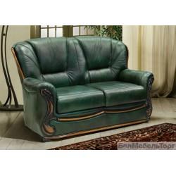 Двухместный кожаный диван Изабель 2