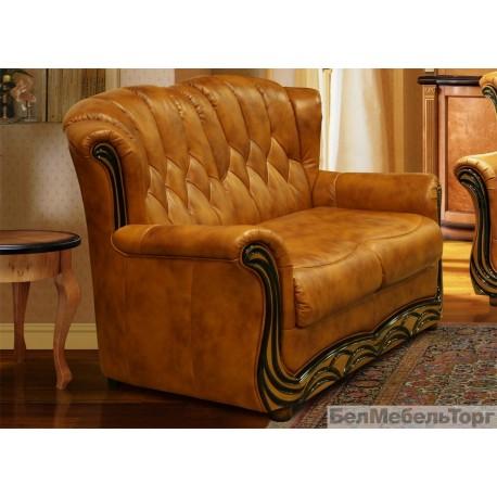 Двухместный кожаный диван Европа