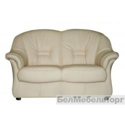 Двухместный кожаный диван Омега