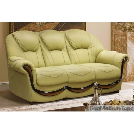 Трёхместный кожаный диван Дельта