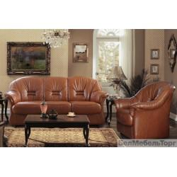 """Трёхместный кожаный диван """"Омега"""""""