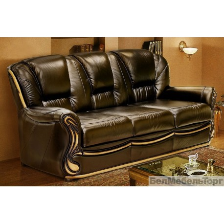 Трехместный кожаный диван Изабель 2
