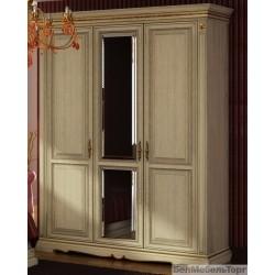 Шкаф трехдверный Милана слоновая кость. П 294.01