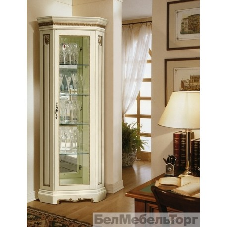 Шкаф с витриной Милана 10 слоновая кость П265.10