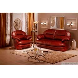 Трехместный кожаный диван Йорк