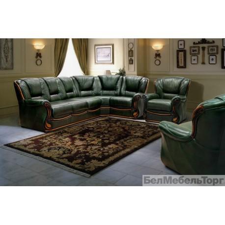 Угловой кожаный диван Изабель 2