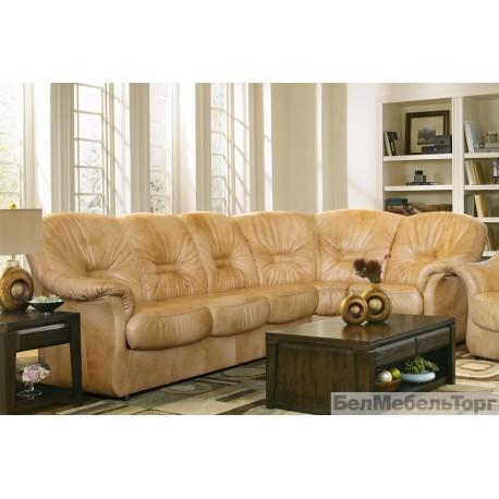 Угловой кожаный диван Омега