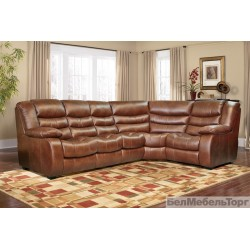 "Угловой кожаный диван ""Манчестер 1"" 3мL/R.90.1R/L"