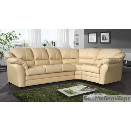 Угловой кожаный диван Сенатор