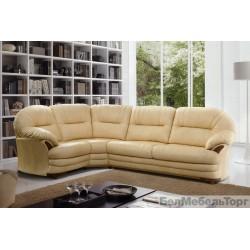 """Угловой кожаный диван """"Йорк"""" 3мL/R.90.1R/L"""