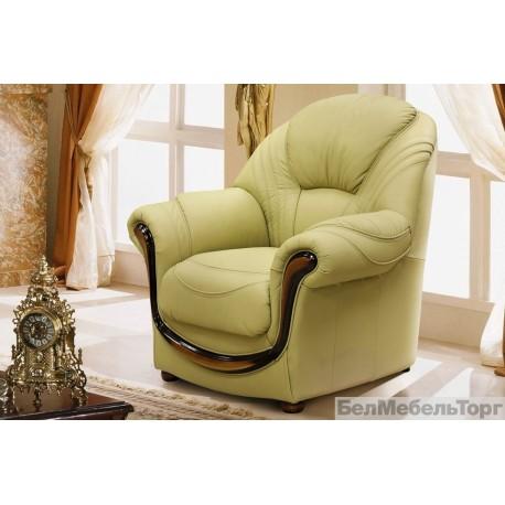 Кресло мягкое кожаное Дельта