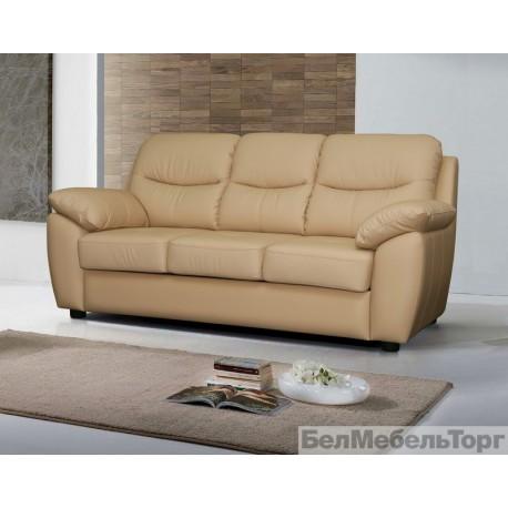 Трёхместный кожаный диван Плаза