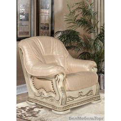 """Кожаное кресло """"Консул 23"""" слоновая кость"""
