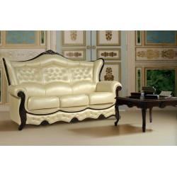 Трехместный кожаный диван Патриция