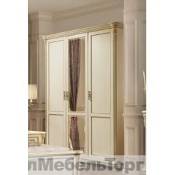 Шкаф 3-х дверный «Алези» П349.01 слоновая кость с золочением