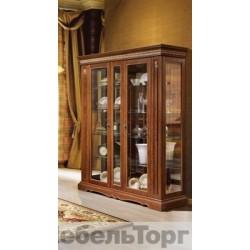 """Шкаф с витриной """"Милана 11"""" П 265.11 черешня с золочением"""