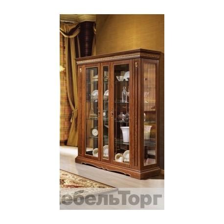 """Шкаф с витриной """"Милана 11"""" (П 265.11) черешня с золочением"""