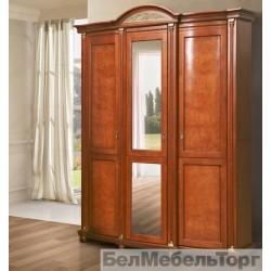 """Шкаф 3-х дверный """"Валенсия 3"""" П 254.10 каштан"""