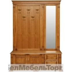 """Вешалка П 433.04Z от набора мебели для прихожей """"Верди Люкс"""" дуб"""