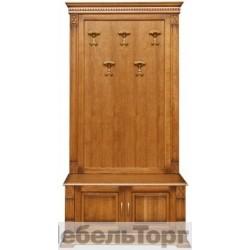"""Вешалка П 433.05 от набора мебели для прихожей """"Верди Люкс» дуб"""