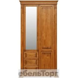 """Шкаф комбинированный П 433.12z от набора мебели для прихожей """"Верди Люкс"""" дуб"""