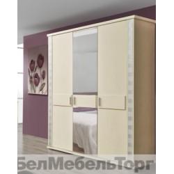 """Шкаф 3-х дверный для одежды """"Тунис"""" П 344.01 слоновая кость с серебром"""