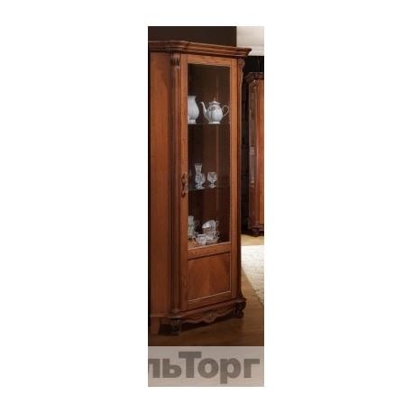 """Шкаф с витриной """"Алези 10"""" (угловая) П 350.13 античная бронза"""