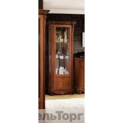 "Шкаф с витриной ""Алези 8"" П 350.08 античная бронза"