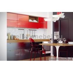 Кухня Система  RAL 3028/RAL 9023 глянец