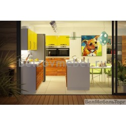 Кухня Желтый/Ива