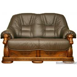 Двухместный кожаный диван Фаворит