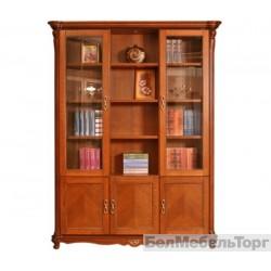 Шкаф комбинированный «Алези»(библиотека) п.395.03 античная бронза
