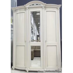 "Шкаф 3-х дверный ""Валенсия 3"" П 254.10 античная темпера с серебром"