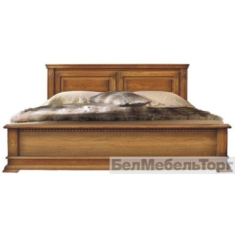 Кровать Верди 16 1  п.095.08 1м (1600) дуб низкое изножье