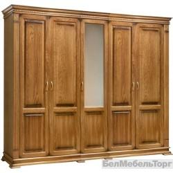 Шкаф 5-ти дверный Верди дуб