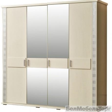 Шкаф 4-х дверный Тунис п.344.09 слоновая кость с серебром
