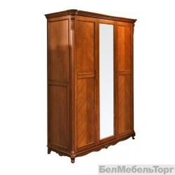Шкаф 3-х дверный «Алези» П 349.01 античная бронза