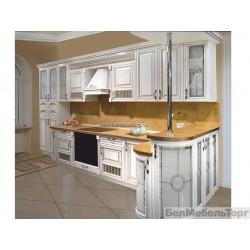 Кухня из массива Дуба 10 Тип 11 с золотой патиной