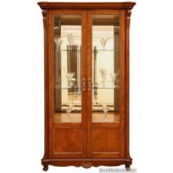 "Шкаф с витриной ""Алези 2"" П350.19 античная бронза"
