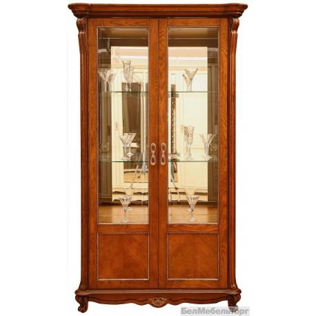 "Шкаф с витриной ""Алези 2"" (П350.19) античная бронза"